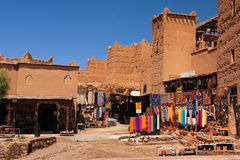 Souvenir shop at Kasbah Taourirt . Ouarzazate. Morocco. Royalty Free Stock Photo