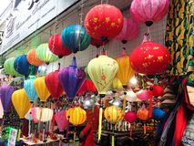 Souvenir shop with lampion in Hanoi - Vietnam. Souvenir shop with colorful lampion in Hanoi - Vietnam Asia royalty free stock images