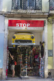 Souvenir shop in Lisbon, Portugal Royalty Free Stock Photography