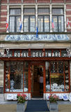 Souvenir shop on the Market Square in Delft Royalty Free Stock Photo