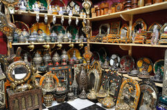 Souvenir shop in Marrakech Stock Photography
