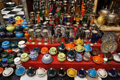 Souvenir shop in Marrakesh Stock Photos