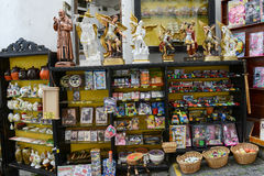 Souvenir shop of Monte Sant'Angelo on Puglia, Italy. royalty free stock photo