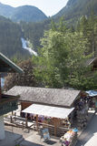 Souvenir shop near the Krimml Falls, Austria Stock Photography