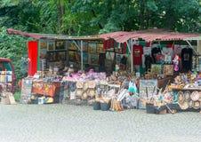 Souvenir shop near the monastery in Shipka Royalty Free Stock Photos