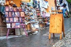 Souvenir shop notice board Royalty Free Stock Image