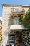 Souvenir shop in the old Budva, Montenegro Stock Photos