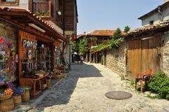 Souvenir shop in  old Nessebar. Near the Black Sea, Bulgaria Stock Photo