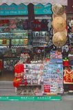 Souvenir shop in the Nanshi Old Town in Shanghai, China. Souvenir shops with panda bears, shawls, table clothes, paintings and others stuff in the Nanshi Old Royalty Free Stock Image