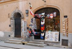Souvenir shop in Old Town Warsaw. Poland and popular among tourists stock photos