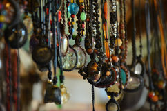 Souvenir shop ornament made for beads stone and jewelry Royalty Free Stock Image