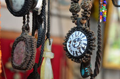 Souvenir shop ornament made for beads stone and jewelry Stock Photos
