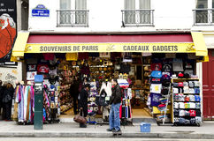 Souvenir shop in Paris royalty free stock image