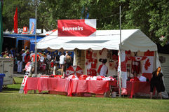 Souvenir shop in park on Canada Day, Ottawa Royalty Free Stock Photos