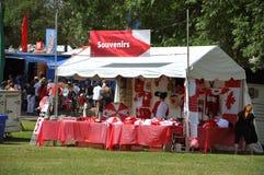Souvenir shop in park on Canada Day, Ottawa royalty free stock photos