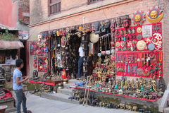 Souvenir shop, Patan Durbar Square, Nepal Royalty Free Stock Images