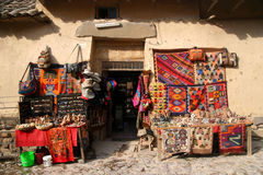 Souvenir shop in Peru Royalty Free Stock Images