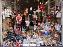 Souvenir shop in Prague Stock Photography