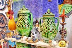 Souvenir shop. Souvenir gift shop in Spain Stock Photography