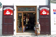 Souvenir shop, Prague. Stock Photos