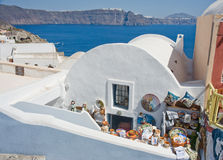 Souvenir shop on Santorini. Royalty Free Stock Photos