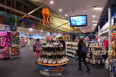Souvenir shop of Sea Life Sydney Aquarium. The shop has many great variety of colourful souvenirs to cater tourists visiting the attraction. Items available Stock Photos