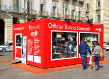 Souvenir Shop in Turin Stock Photography