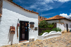 Souvenir Shop in Villa de Leyva Royalty Free Stock Photography