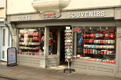 Souvenir shop in York UK. York-UK June-2016,  Display windows of souvenir shop in York UK, very popular for tourists, tourist attraction Stock Photos
