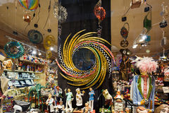 Souvenir shoppar, Barcelona Royaltyfria Foton