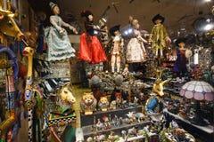 Souvenir shoppar, Barcelona Royaltyfria Bilder