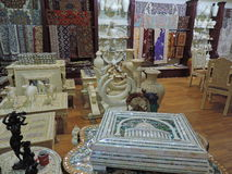 Souvenir shoppar i Amman, Jordanien Arkivfoto