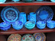 Souvenir shoppar i Amman, Jordanien Royaltyfri Fotografi