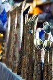 Souvenir shoppar i arab Arkivbild