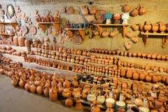 Souvenir shoppar i Cappadocia, Turkiet royaltyfria bilder