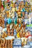 Souvenir shoppar i den Sahara öknen egypt giza sphinx Fotografering för Bildbyråer