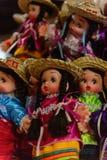 Souvenir shoppar med de traditionella mexicanska objekten Royaltyfria Foton