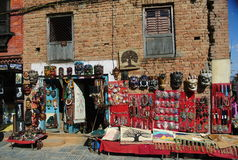 Souvenir shoppar, Nepal Royaltyfria Bilder