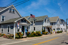 Souvenir Shops on Chapel Street, Block Island. Stock Photo