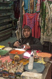 Souvenir shops in Jordan Stock Photo