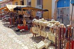 Souvenir Shops in the Old Town, Trinidad Royalty Free Stock Photos