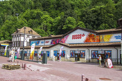 Souvenir shops. Venue Formula 1 racing in Sochi in 2014 - with the infrastructure -Olympic Park, hotels Stock Images