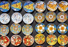 Fridge magnets from Sicily, Italy Stock Photos