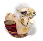 Souvenir soft toy camel on a white background Royalty Free Stock Image