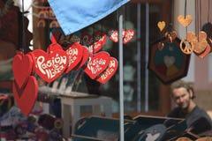 Souvenir som är till salu i en marknad av Ibiza Royaltyfri Foto