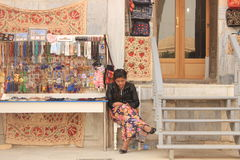Souvenir stall in Registan, samarkand, uzbekistan Royalty Free Stock Photo