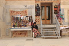 Souvenir stall in Registan Royalty Free Stock Photo