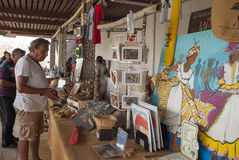 Souvenir stall, Rincon, Bonaire Stock Photo