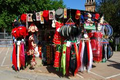 Souvenir stall, Seville. Stock Photos