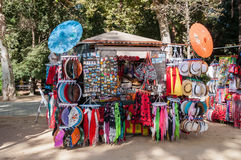 Souvenir stall in Seville Stock Photography